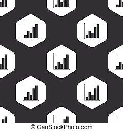 Black hexagon graphic pattern
