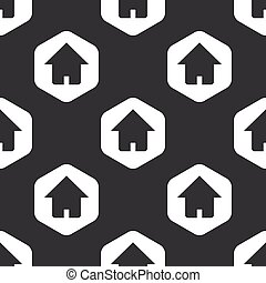 Black hexagon home pattern
