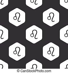 Black hexagon Leo pattern