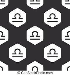 Black hexagon Libra pattern