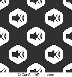 Black hexagon loudspeaker pattern