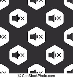 Black hexagon muted loudspeaker pattern