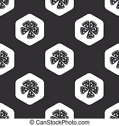 Black hexagon pizza pattern