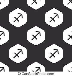 Black hexagon Sagittarius pattern
