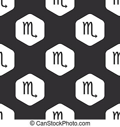 Black hexagon Scorpio pattern