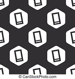 Black hexagon smartphone pattern
