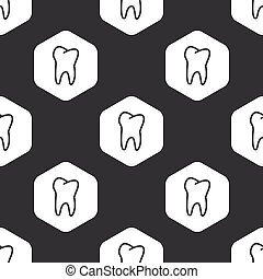 Black hexagon tooth pattern