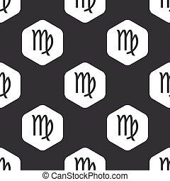 Black hexagon Virgo pattern