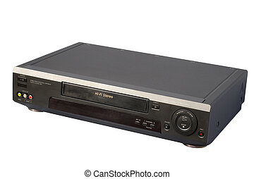 Black Hi-Fi VCR, isolated, clipping path included