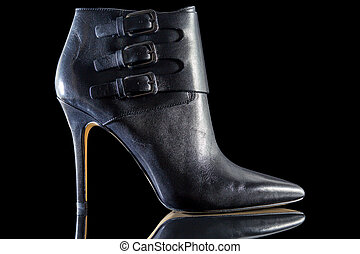 Black high heel shoes for woman