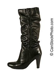 black high heel woman boot isolated