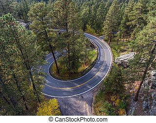 Black Hills Pigtail Bridge - Pigtail bridge along the...