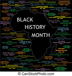 Black History Month Collage - Vector Illustration for black ...