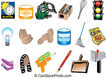 Black History Month Inventions - Vector Illustration of...