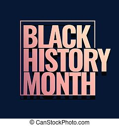 Black History Month Logo design. Vector illustration.