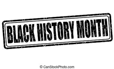 Black history month sign or stamp