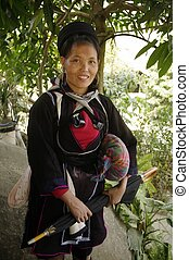 Black Hmong ethnic woman