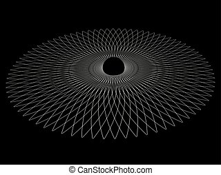 Black hole. Abstract vector background