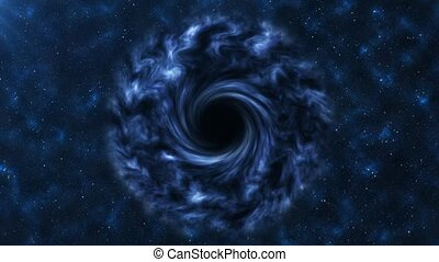 Black hole - Dense black hole in space.
