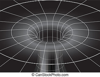Black Hole in isometric view - Isometric view of space time...