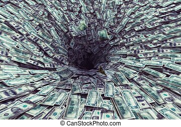Black hole money - Big black hole that sucks much money