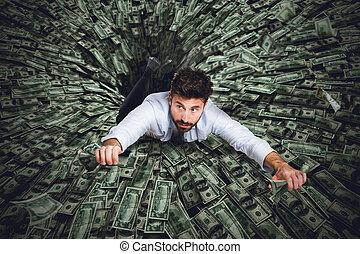 Black hole of money