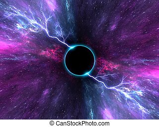 black hole, Planets and galaxy, science fiction wallpaper. Beauty of deep space.