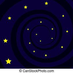 Black Hole Spiral Stars - Black hole spiral with many stars...