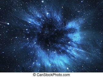 Black hole - A picture of black hole engulfing nearby stars...