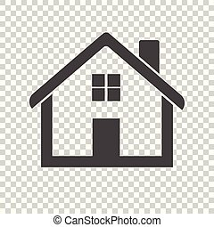 Black home icon on isolated background