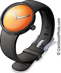 black , horloge