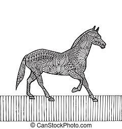 Black Horse- Chinese zodiac - Black Horse- Chinese zodiac,...