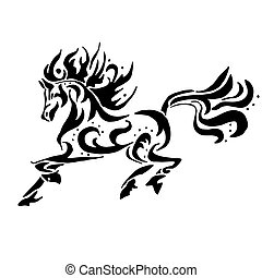 Black horse coloring