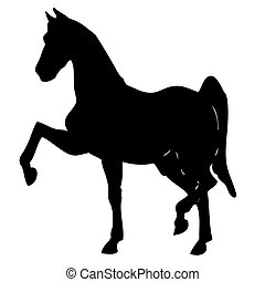 black horse silhouette 4 - black horse silhouette