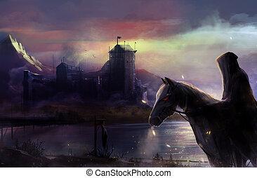 Black horseman castle