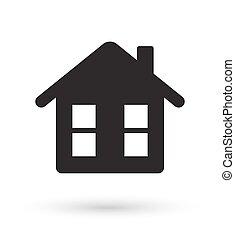 black house icon vector