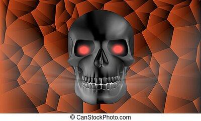 black human skull