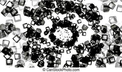 black ice block tunnel hole,crystal