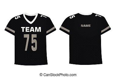 Black ice hockey shirt