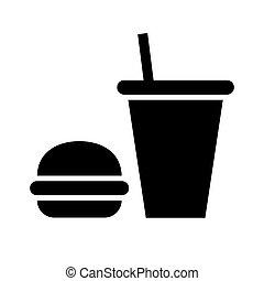 black icon on white background