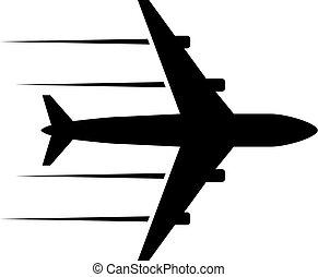 black icon plane