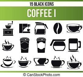 Black Icon Set Coffee I