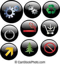 black icon set