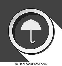 black icon - umbrella with shadow