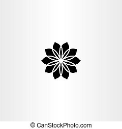 black icon vector flower abstract