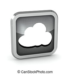 black icon with cloud on a white background
