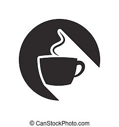 black icon with cup