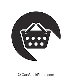 black icon with shopping basket