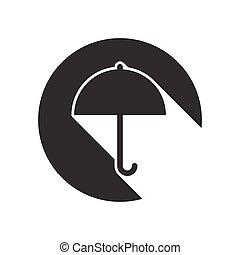 black icon with umbrella
