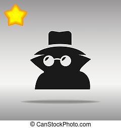 black Incognito Icon button logo symbol concept high quality